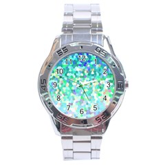 Mosaic Sparkley 1 Stainless Steel Watch by MedusArt