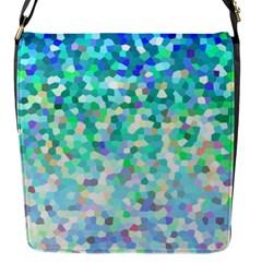 Mosaic Sparkley 1 Flap Closure Messenger Bag (small) by MedusArt