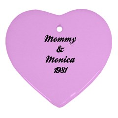 Mommy  By Monica Bell   Heart Ornament (two Sides)   9i41ipu6tl07   Www Artscow Com Back