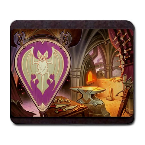 King s Forge   Bat By Grahamleatherwood   Large Mousepad   Iq2j00kn19qc   Www Artscow Com Front