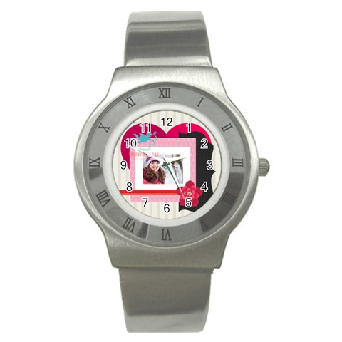 Love By Ki Ki   Stainless Steel Watch   Yhurlqf5napo   Www Artscow Com Front