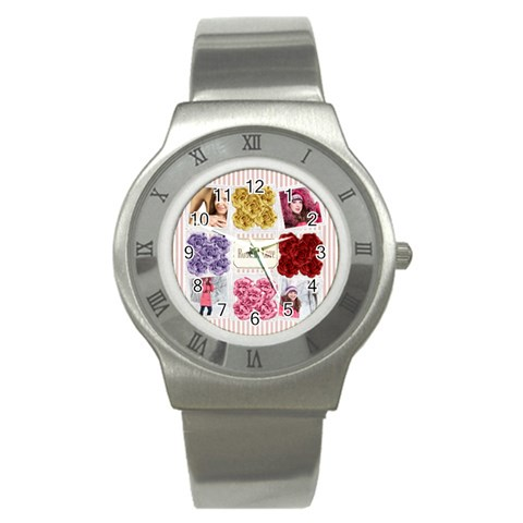 Love By Ki Ki   Stainless Steel Watch   I60ytyvzi8xh   Www Artscow Com Front