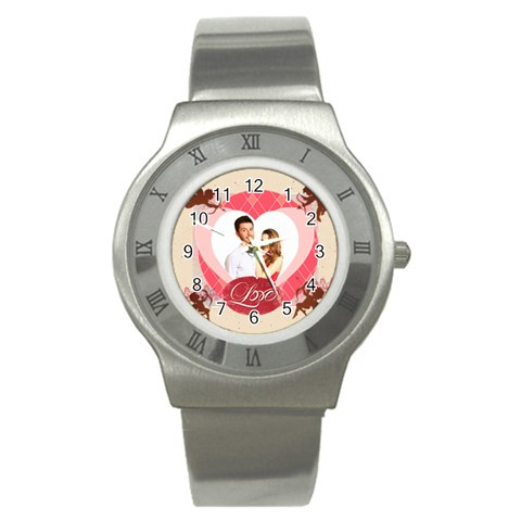 Love By Ki Ki   Stainless Steel Watch   Hm2kvggk48wg   Www Artscow Com Front