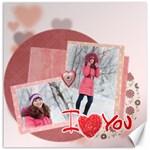 love - Canvas 16  x 16