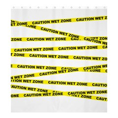 CAUTION Shower Curtain 66  x 72  (Large) by Contest1732468