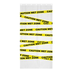 CAUTION Shower Curtain 36  x 72  (Stall) by Contest1732468