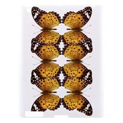 Butterfly Art Tan&black Apple iPad 3/4 Hardshell Case by BrilliantArtDesigns