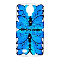 Butterfly Art Blue&cyan Samsung Galaxy S4 Classic Hardshell Case (pc+silicone) by BrilliantArtDesigns