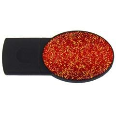 Glitter 3 2gb Usb Flash Drive (oval) by MedusArt