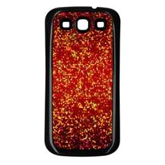 Glitter 3 Samsung Galaxy S3 Back Case (black) by MedusArt