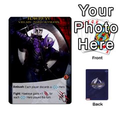 Legendary Villains 1 By Mark   Playing Cards 54 Designs   Agb47bvzb0at   Www Artscow Com Front - Heart2