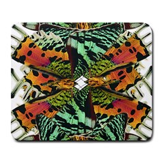 Butterfly Art Green & Orange Large Mouse Pad (rectangle) by BrilliantArtDesigns
