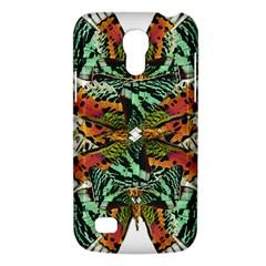 Butterfly Art Green & Orange Samsung Galaxy S4 Mini (gt I9190) Hardshell Case  by BrilliantArtDesigns