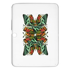 Butterfly Art Green & Orange Samsung Galaxy Tab 3 (10 1 ) P5200 Hardshell Case  by BrilliantArtDesigns