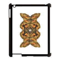 Butterfly Art Tan & Orange Apple Ipad 3/4 Case (black) by BrilliantArtDesigns