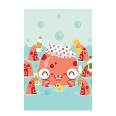Mr  Bubbles Shower Curtain 48  X 72  (small) by Contest1771648