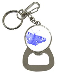Decorative Blue Butterfly Bottle Opener Key Chain by Colorfulart23
