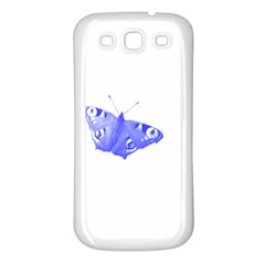 Decorative Blue Butterfly Samsung Galaxy S3 Back Case (white) by Colorfulart23