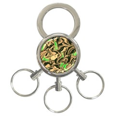 Retro Swirl 3 Ring Key Chain by Colorfulart23