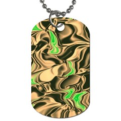 Retro Swirl Dog Tag (two Sided)  by Colorfulart23