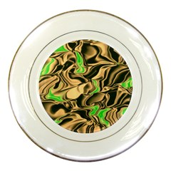 Retro Swirl Porcelain Display Plate by Colorfulart23