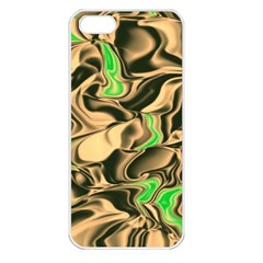 Retro Swirl Apple Iphone 5 Seamless Case (white) by Colorfulart23