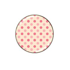 Pale Pink Polka Dots Golf Ball Marker (for Hat Clip) by Colorfulart23