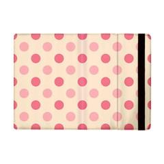 Pale Pink Polka Dots Apple Ipad Mini Flip Case