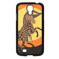 Embracing The Moon Samsung Galaxy S4 I9500/ I9505 Case (black) by twoaboriginalart