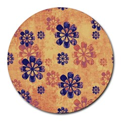 Funky Floral Art 8  Mouse Pad (round) by Colorfulart23