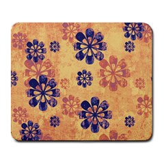Funky Floral Art Large Mouse Pad (rectangle) by Colorfulart23