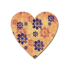 Funky Floral Art Magnet (heart) by Colorfulart23