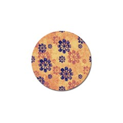 Funky Floral Art Golf Ball Marker by Colorfulart23
