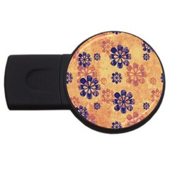 Funky Floral Art 2gb Usb Flash Drive (round) by Colorfulart23