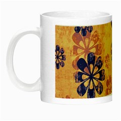 Funky Floral Art Glow In The Dark Mug by Colorfulart23