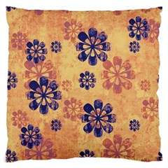 Funky Floral Art Large Cushion Case (single Sided)  by Colorfulart23