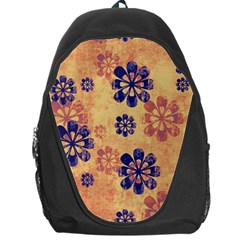 Funky Floral Art Backpack Bag by Colorfulart23