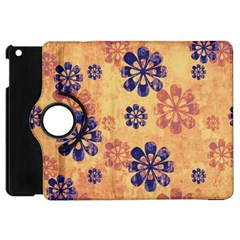 Funky Floral Art Apple Ipad Mini Flip 360 Case by Colorfulart23