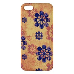 Funky Floral Art Iphone 5 Premium Hardshell Case by Colorfulart23