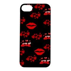Love Red Hearts Love Flowers Art Apple iPhone 5S Hardshell Case