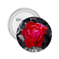 Red Rose 2 25  Button by jotodesign