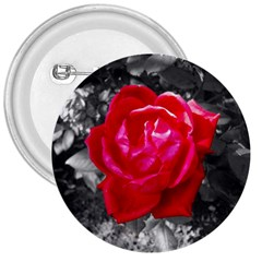 Red Rose 3  Button by jotodesign