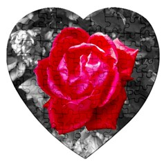 Red Rose Jigsaw Puzzle (heart) by jotodesign