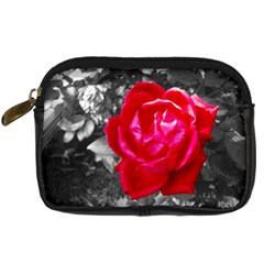 Red Rose Digital Camera Leather Case by jotodesign