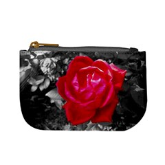 Red Rose Coin Change Purse by jotodesign