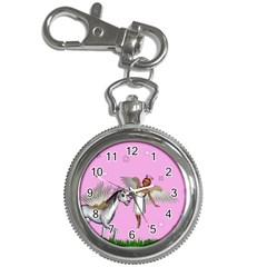 Unicorn And Fairy In A Grass Field And Sparkles Key Chain & Watch by goldenjackal