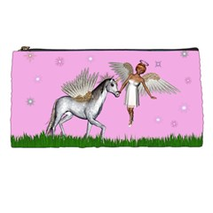 Unicorn And Fairy In A Grass Field And Sparkles Pencil Case by goldenjackal