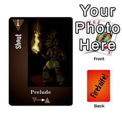 Fireknife 1 Of 2 By Peter Drake   Playing Cards 54 Designs   Hy0k4sc6w5sx   Www Artscow Com Front - Spade3