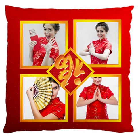 Chinese New Year By Ch   Large Cushion Case (one Side)   18ztn1cbz9ll   Www Artscow Com Front