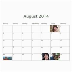 Shokov 2014 By Tania   Wall Calendar 11  X 8 5  (12 Months)   Deoomucaa97b   Www Artscow Com Aug 2014